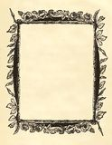 Blank floral victorian frame Royalty Free Stock Images