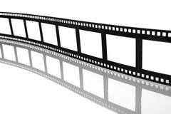 Blank Flowing Film Strip Stock Photography