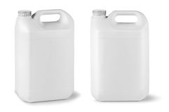 Blank fluid canisters Royalty Free Stock Photo