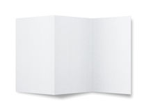 Blank flyer. Blank paper brochure  on white background with copy space Stock Photos