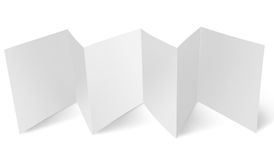 Blank flyer with zigzag fold. Zigzag folded blank paper flyer royalty free stock images