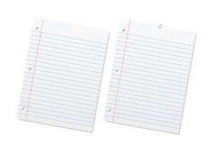 Blank fodrade pappers- täcker eller anteckningsboksidor. Royaltyfria Bilder