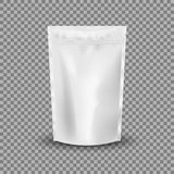 Blank Foil Food Or Drink Bag Packaging with valve and seal. royalty free illustration