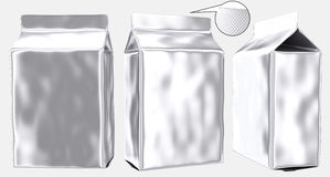 Blank foil pouch gusseted plastic bag Royalty Free Stock Photography
