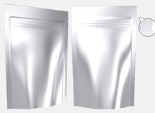 Blank foil resealable standing plastic bag Stock Images