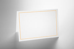 Blank folded card standing Stock Images