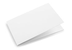 Blank folded card  Stock Image