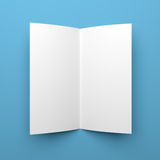 Blank folded flyer, booklet or brochure mockup Royalty Free Stock Images