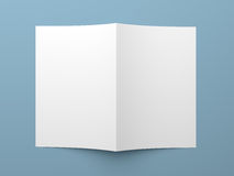 Blank folded flyer, booklet, business card or brochure Stock Photography