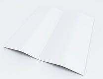 Blank folded flyer, booklet, stock illustration