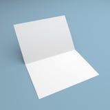 Blank folded flyer, booklet, postcard, business card or brochure Stock Image