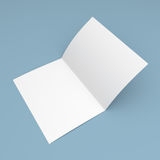 Blank folded flyer, booklet, postcard, business card or brochure Royalty Free Stock Images