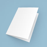 Blank folded flyer, booklet, postcard, business card or brochure Royalty Free Stock Photo
