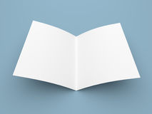 Blank folded flyer, booklet, postcard, business card or brochure Stock Image