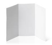 Blank folded flyer on white Royalty Free Stock Photo
