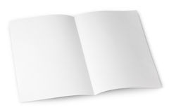 Blank folded flyer on white Royalty Free Stock Photos