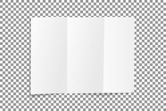 Free Blank Folded Leaflet White Paper. Sheet With Soft Shadows , Isolated On Transparent Background. Vector Royalty Free Stock Photo - 109847895