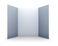 Blank folded paper leaflet Stock Images