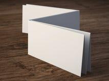 Blank folded paper leaflet Royalty Free Stock Image
