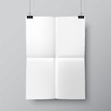 Blank Folded Poster Template Stock Photography