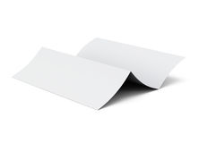 Blank folded sheet of paper. 3d illustration on white background Royalty Free Stock Image