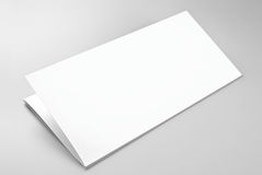Blank folded sheet of paper or letterhead Royalty Free Stock Image