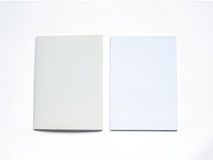 Blank folder with document  on white. To replace your design Stock Photography