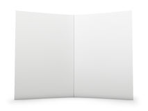 Blank Folder Spread. With paper texture. Isolated on white. Clipping path included for easy and precise selection Royalty Free Stock Photos