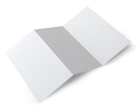 Blank folding booklet Royalty Free Stock Image