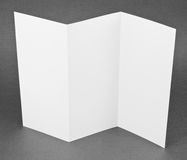 Blank folding one page booklet Royalty Free Stock Photos
