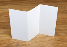Blank folding page booklet Royalty Free Stock Photo