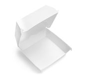 Blank food packaging box. With shadow on white Stock Photos
