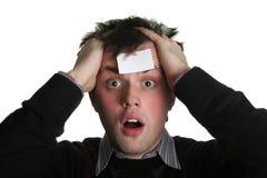 Blank forehead five Stock Photo