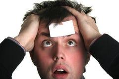Blank forehead six Stock Image