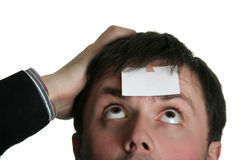 Blank forehead two Stock Photo