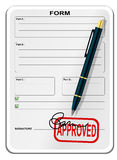 Blank form. With signature and pen Royalty Free Stock Photo