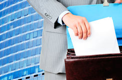Blank form of the contract Stock Image