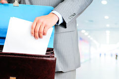 Blank form of the contract Stock Photography