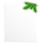 Blank form. Decorated with a pine branch Royalty Free Stock Image