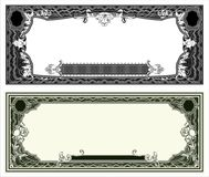 Blank banknote layout Royalty Free Stock Photography