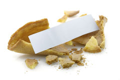 Blank fortune cookie Stock Images