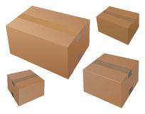 Blank four mail boxes stock illustration
