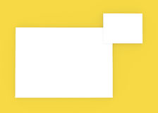 Blank frame. Over yellow wall Royalty Free Stock Images