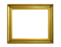 Blank Frame. An empty picture frame on white background Royalty Free Stock Photos