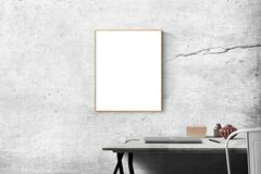Blank Frame Above Table Stock Photography
