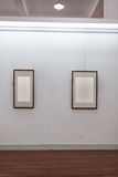 Blank frame in art gallery stock photos