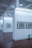 Blank frame in art gallery Stock Photo
