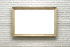 Blank frame on the brick wall stock illustration