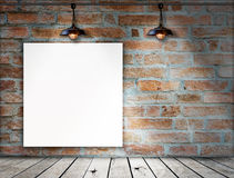 Blank frame on Brick wall Stock Images