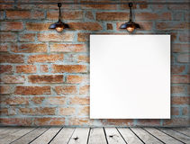 Blank frame on Brick wall Royalty Free Stock Photo